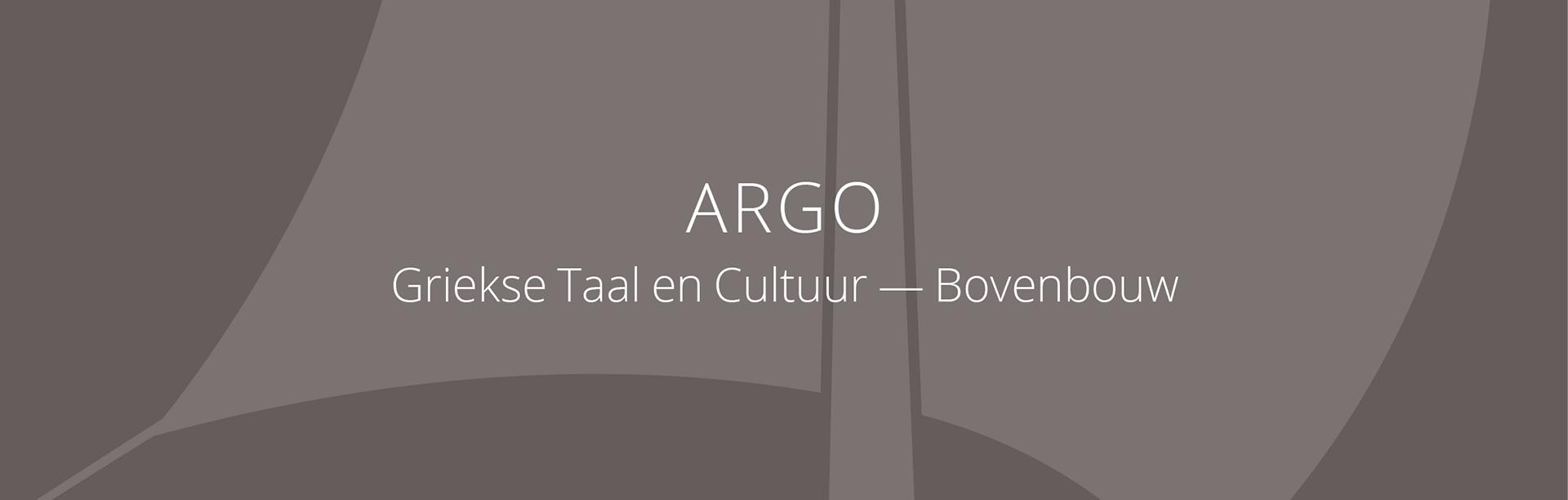 Banner ARGO Grieks bovenbouw
